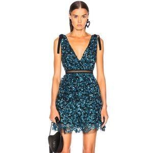 * NEW Self-Portrait Tiered Sequin Mini Dress F79